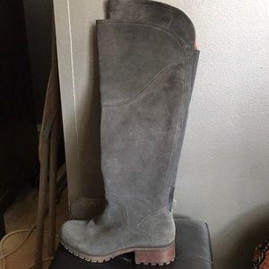 Gray Riding Boot